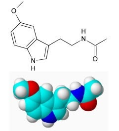 Estrutura molécula melatonina