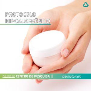Protocolo hipoalergênico - Mãos com pote de creme