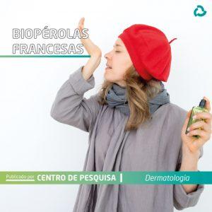 Biopérolas francesas - Mulher passa perfume