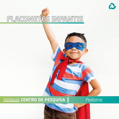 Flaconetes infantis - Criança vestida de super herói