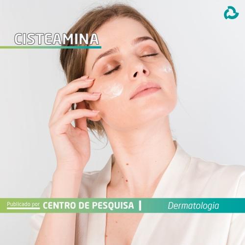 Cisteamina - Mulher passando creme no rosto