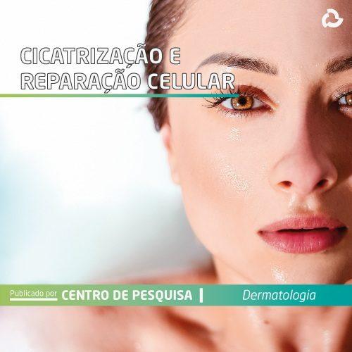 Cicatrização e reparação celular - rosto de mulher