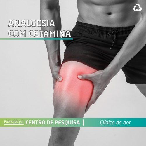 Analgesia com cetamina - homem com dor na perna