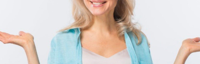 S-Equol - mulher madura sorrindo